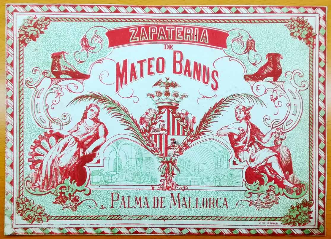 Etiquet caja de zapatos Mateo Banus